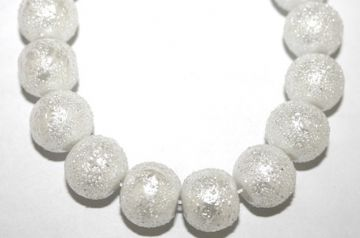 6mm White Glass Blister Moon Pearls- 155 pces